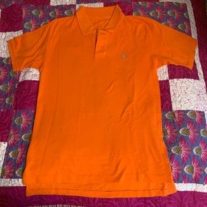 Orange Ralph Lauren women's polo M.